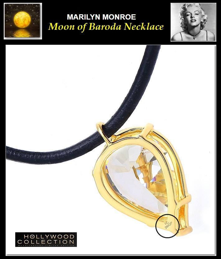 ネックレス  マリリン モンロー「バローダの月」ティアドロップ イエローダイヤモンド チョーカー