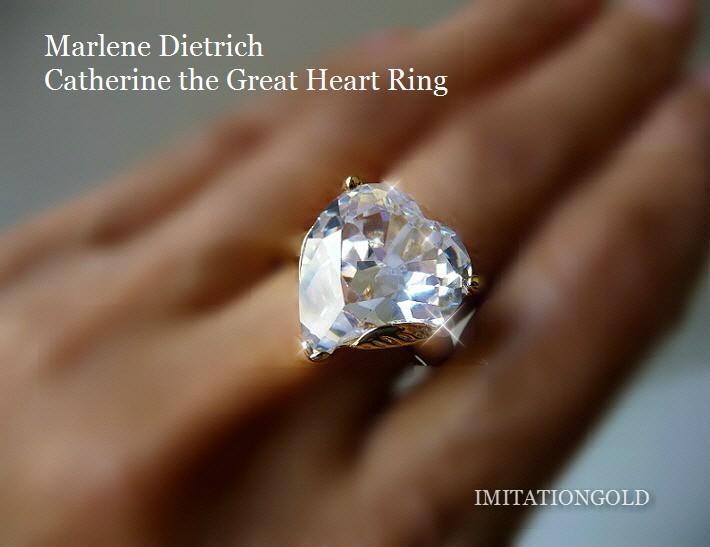 ダイヤモンドハート18金リング|マレーネ・ディートリッヒ オールドハリウッドスター