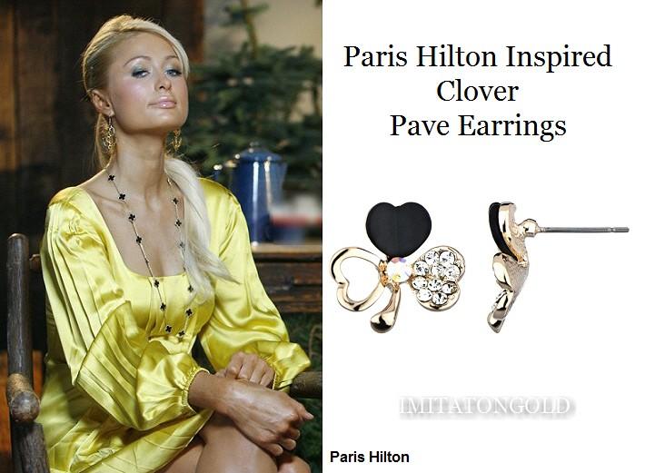 クローバー  パヴェ 14金  ピアス|パリスヒルトン ファッション