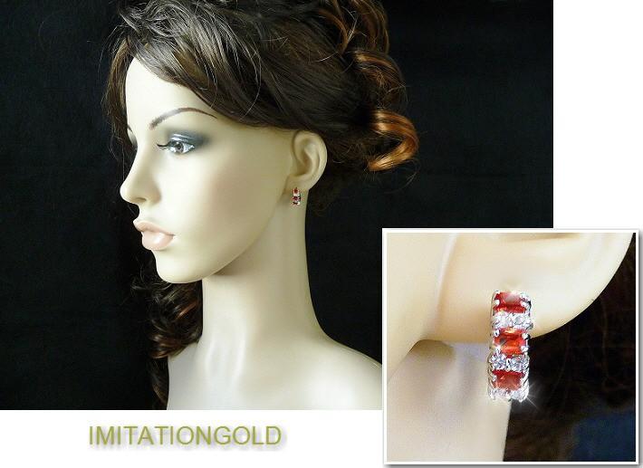 ルビー ダイヤモンド フープピアス 16mm外径 | ミラ クニス ファッション