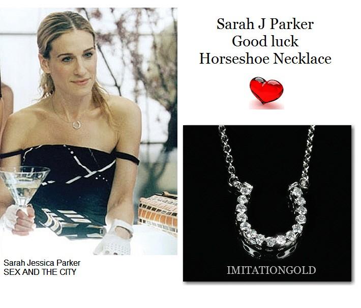 馬蹄 パヴェ ダイヤモンド 幸運 ネックレス| サラ ジェシカ パーカー コレクション