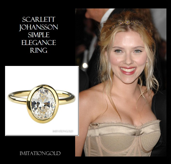 ダイヤモンド14金リング セレブの指輪 スカーレット・ヨハンソン ファッション
