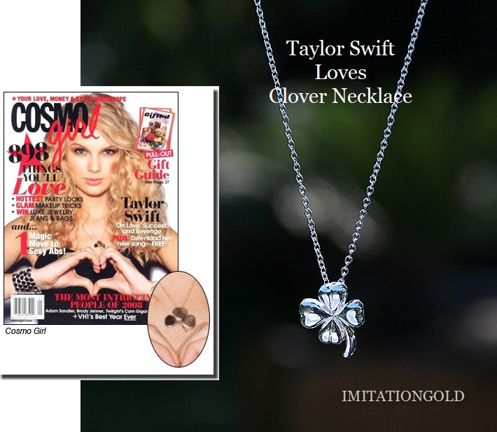 四つ葉のクローバー ネックレス|テイラー・スウィフトのCOSMO GIRL誌ファッション