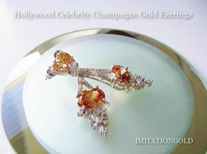 シャンパンダイヤモンド ウエディング 揺れる ピアス|テイラー スイフト コレクション