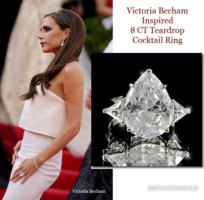 8CT ティアドロップ ダイヤモンド カクテル リング|ヴィクトリア ベッカム コレクション