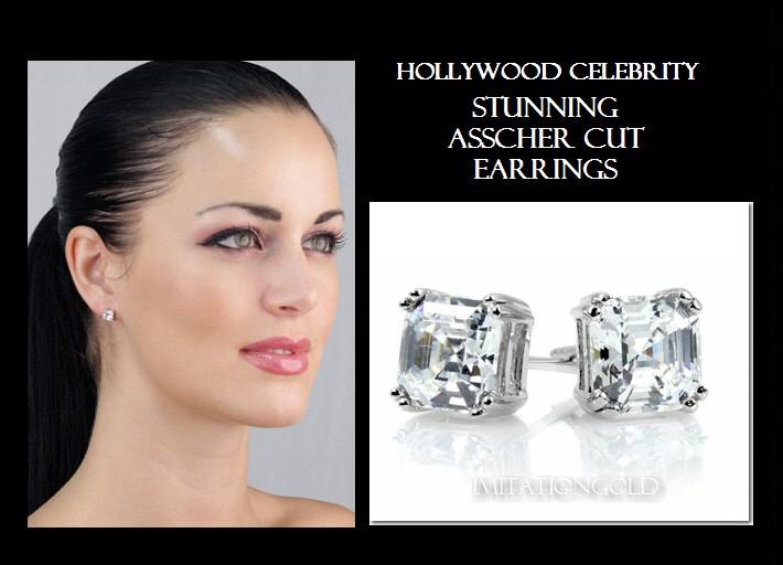 ダイヤモンド アッシャーカット ピアス-2TCW|ヴィクトリア・ヴェッカム ファッション