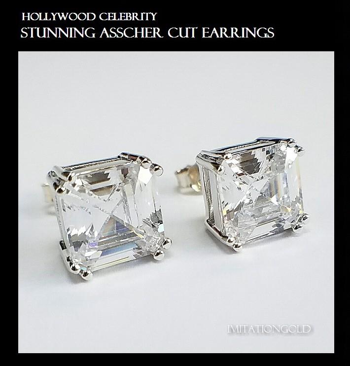 ダイヤモンド アッシャーカット ピアス|ヴィクトリア・ヴェッカム ファッション