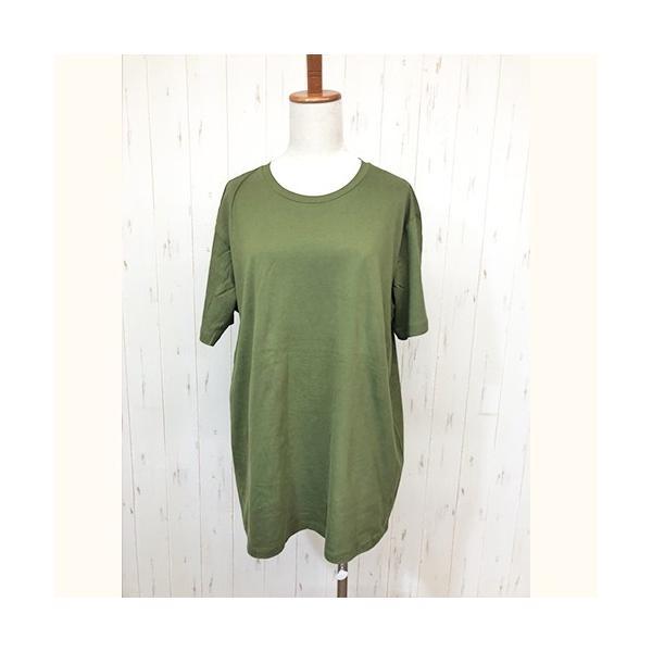 トップス レディース 大きいサイズ Tシャツ 無地 大きいTシャツ レディース半袖カットソー Tシャツ|celeb-honey|20