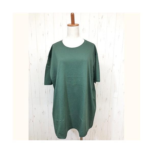 トップス レディース 大きいサイズ Tシャツ 無地 大きいTシャツ レディース半袖カットソー Tシャツ|celeb-honey|24