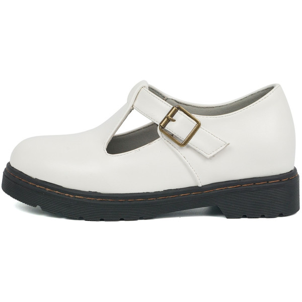 カジュアルシューズ レディース 歩きやすい エナメルシューズ tストラップシューズ 面ファスナー おでこ靴 履きやすい 痛くない ブラック 黒 ホワイト 白 5827