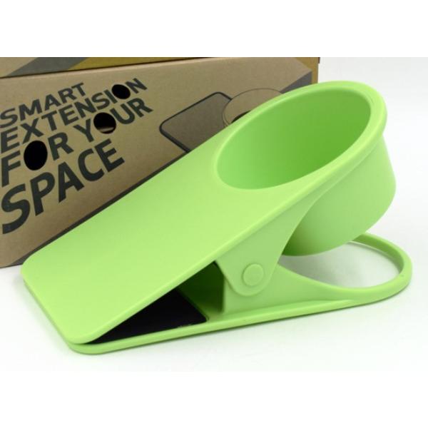 ドリンク ホルダー クリップ式 取って付き ペットボトル マグカップ 使いやすい 赤 青 緑 黒 白 centerwave 10