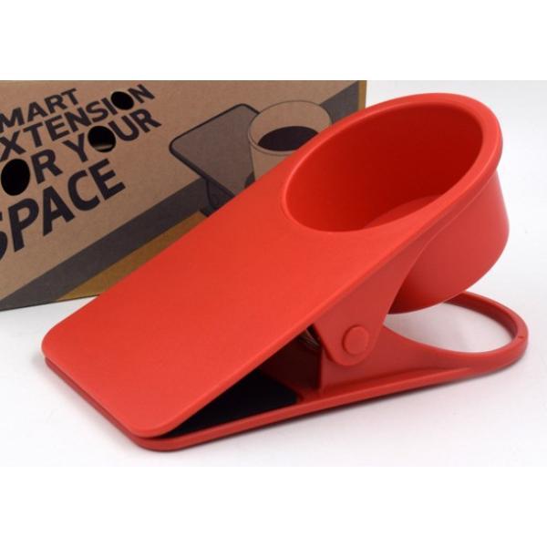 ドリンク ホルダー クリップ式 取って付き ペットボトル マグカップ 使いやすい 赤 青 緑 黒 白 centerwave 08