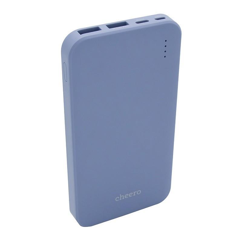 モバイルバッテリー 大容量 急速充電 iPhone / iPad / Android チーロ cheero Bloom 10000mAh 3ポート出力 USB-C USB-A PSEマーク付|cheeromart|10