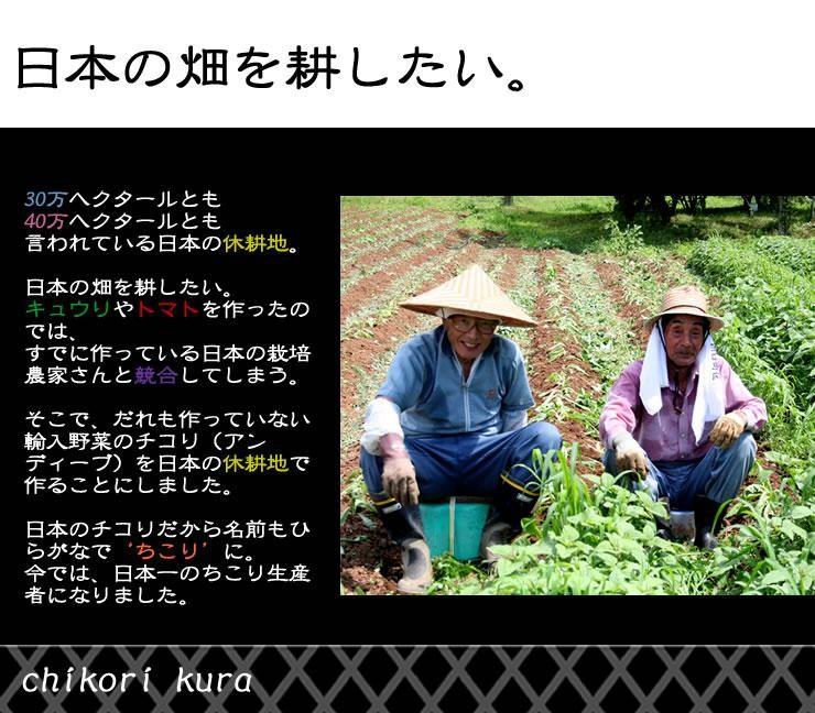 日本の畑を耕したい。そんな思いから作られました。