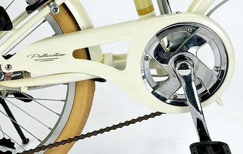折りたたみ自転車 20インチ My Pallas マイパラス アイボリー M-260 M260 6段変速機付 6段ギア 6SP ライト付 折畳み自転車 折畳自転車 送料無料 bicycle 池商 取扱店 チョイス逸品館
