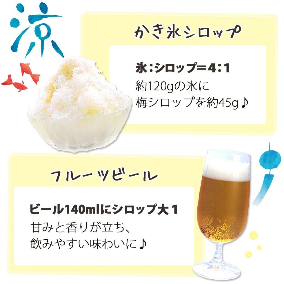 梅の初恋,梅シロップ,フルーツビール,かき氷シロップ