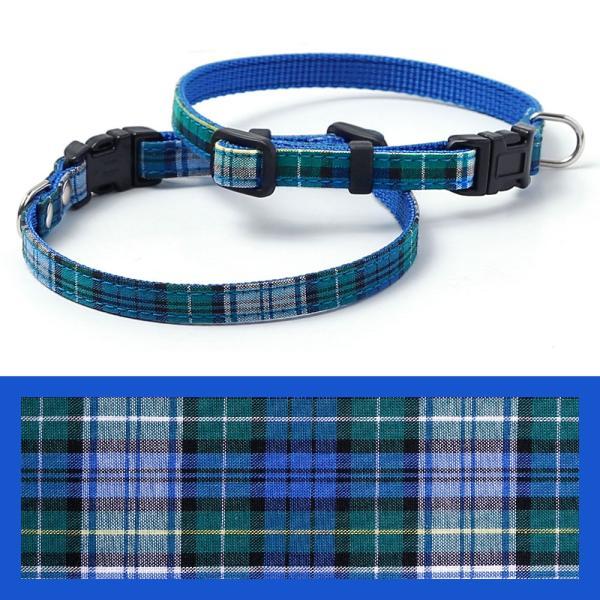 犬 首輪 犬の首輪 小型犬 ナイロン 軽量 ファブリック 生地 タータンチェック コットン 綿 おしゃれ かわいい カラー 10mm 名前入り|choupet|17