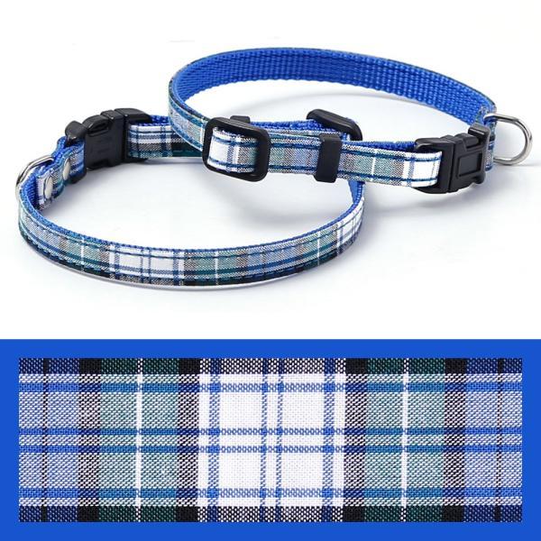 犬 首輪 犬の首輪 小型犬 ナイロン 軽量 ファブリック 生地 タータンチェック コットン 綿 おしゃれ かわいい カラー 10mm 名前入り|choupet|18