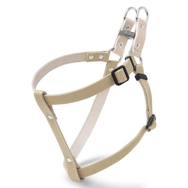 犬 ハーネス 犬のハーネス 胴輪 小型犬 中型犬 ナイロン 軽量 おしゃれ かわいい シンプル カラー リード 15mm 首輪|choupet|20