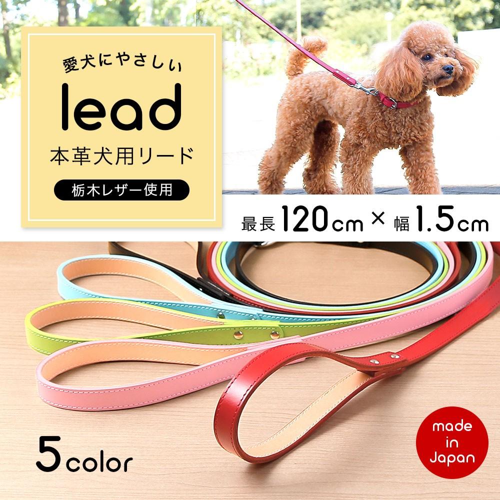 本革 栃木レザー小型犬用リード