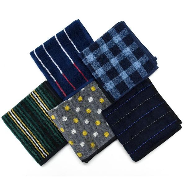 ハンカチ メンズ セット ジャガード タオルハンカチ 5枚 セット 選べる タオルハンカチ クールビズ 綿 コットン 紳士|chrisandra|15