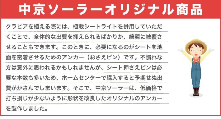 J型ピンは中京ソーラーオリジナル商品