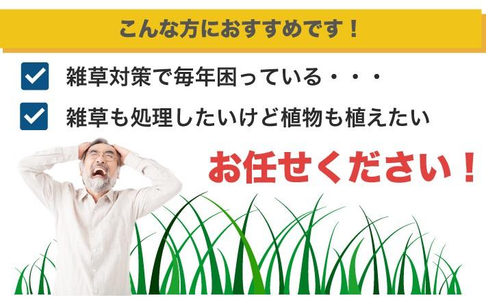 雑草対策で困っている方はおまかせ下さい。