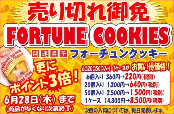 『フォーチュンクッキー売り切れ御免』☆6/28まで