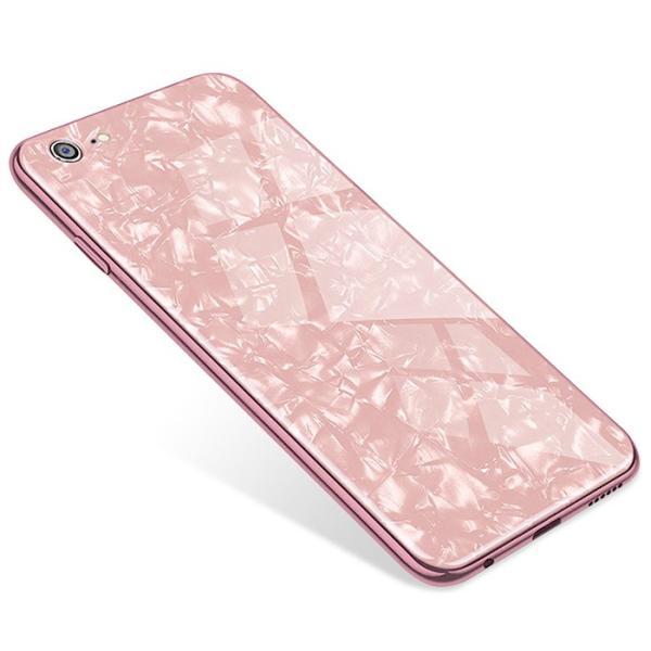 iPhone ケース iPhone8 iPhone7 plus iPhoneXR iPhoneXS Max 背面ガラス クリスタル シェル 風 レビューを書いて追跡なしメール便送料無料可|cincshop|21