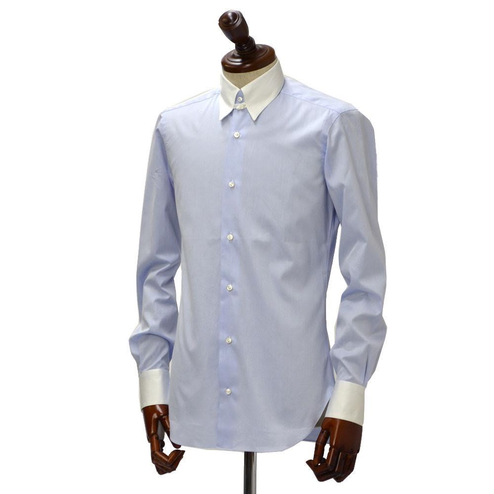BARBA【バルバ】ドレスシャツ TAB I1U68RPZ5006U コットン ツイル クレリック サックスブルー
