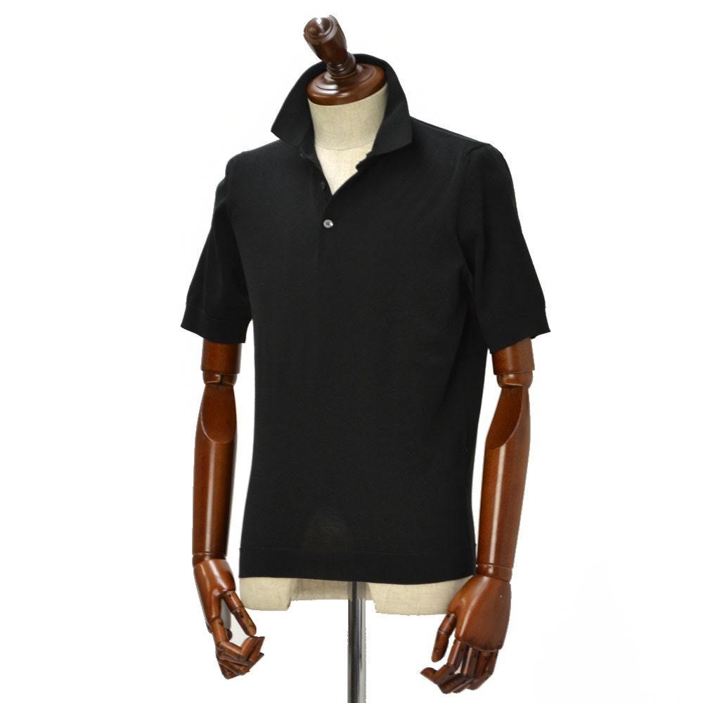 Drumohr【ドルモア】ニットポロシャツ DOG202 690 コットン ブラック