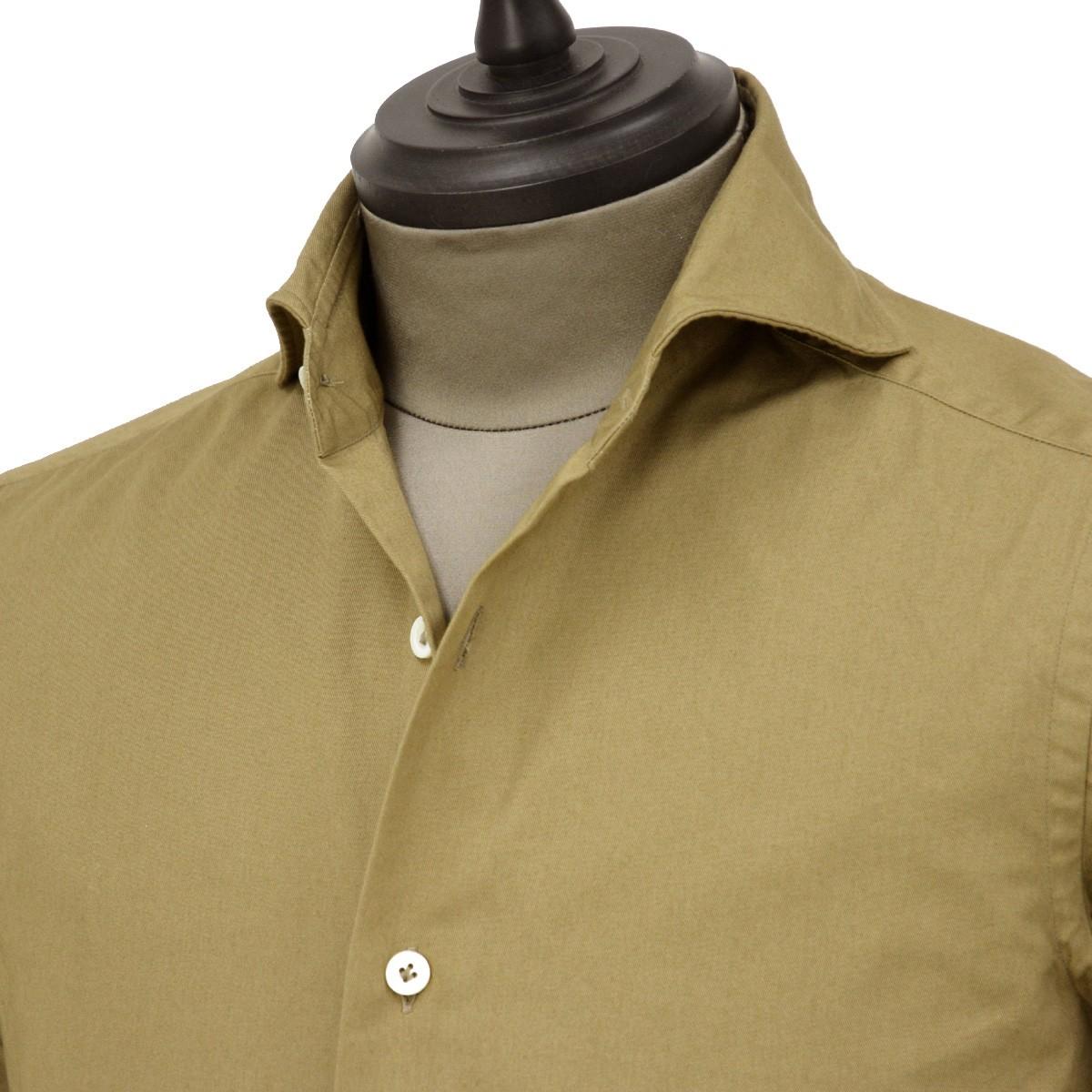 Giannetto【ジャンネット】カジュアルシャツ SLIM FIT 9G11230L84 004 ヘビーコットン ベージュ