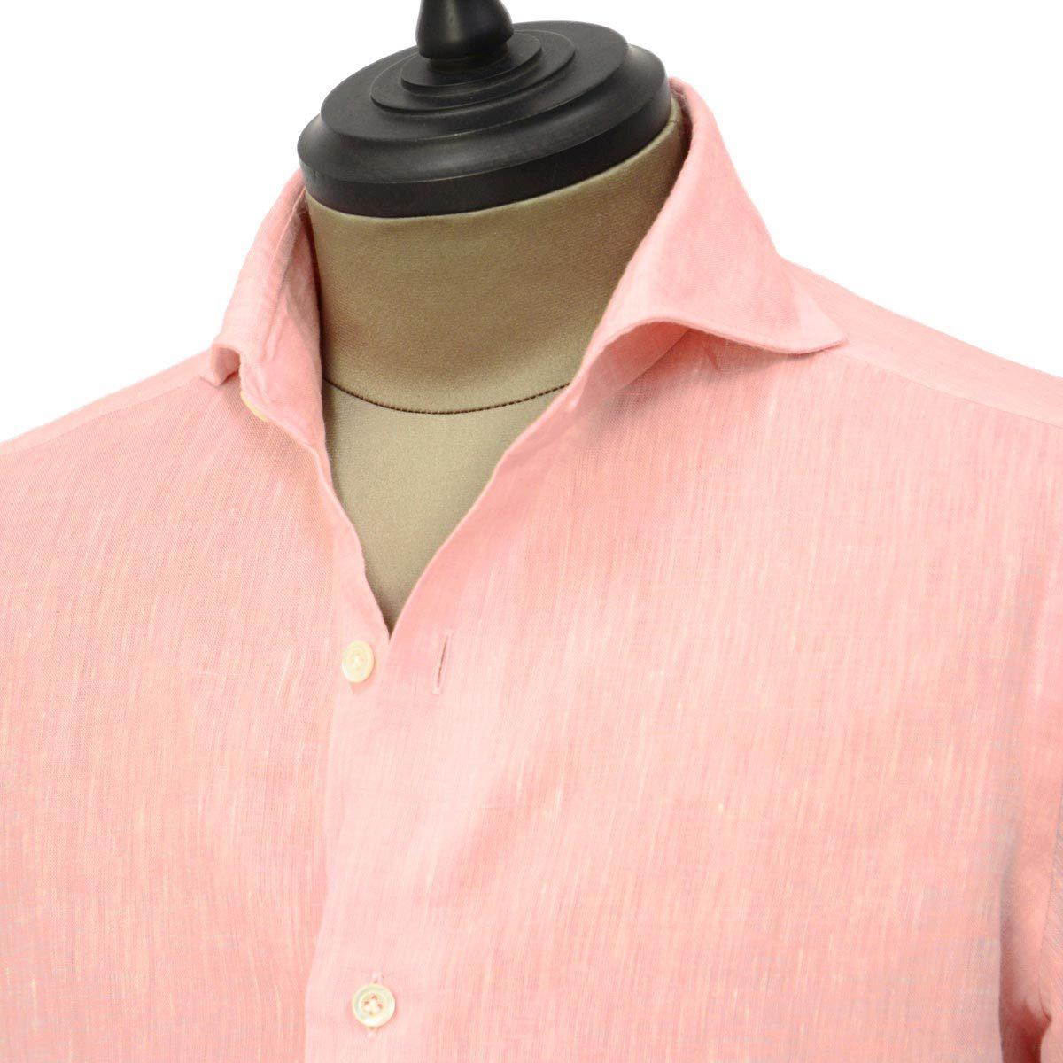 THE GIGI【ザ ジジ】オープンカラーシャツ BELL K914 650 コットン サッカーストライプ ホワイト ブルー
