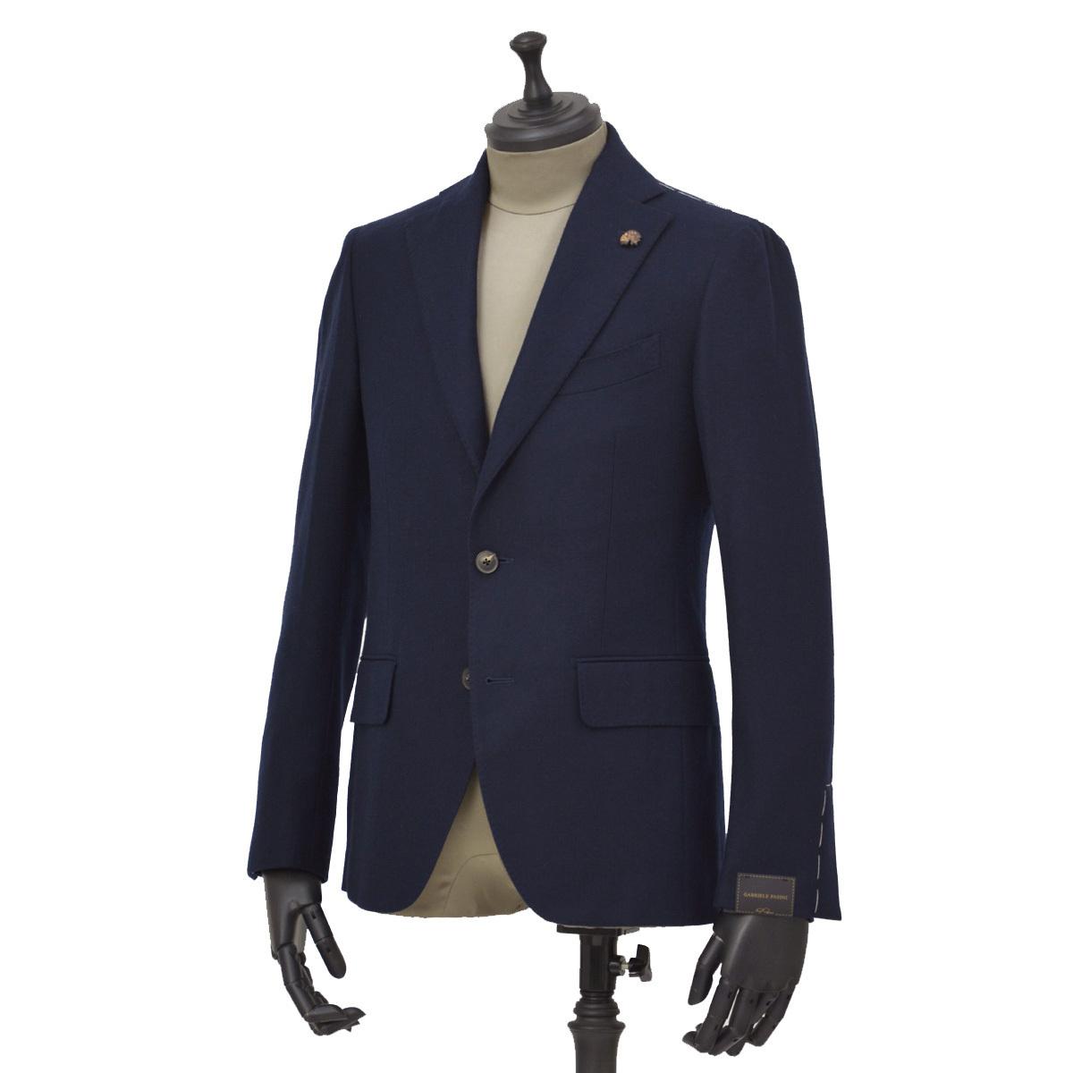 Gabriele Pasini【ガブリエレ パジーニ】シングルジャケット JG12066Q GPF12471 4 カシミア ネイビー