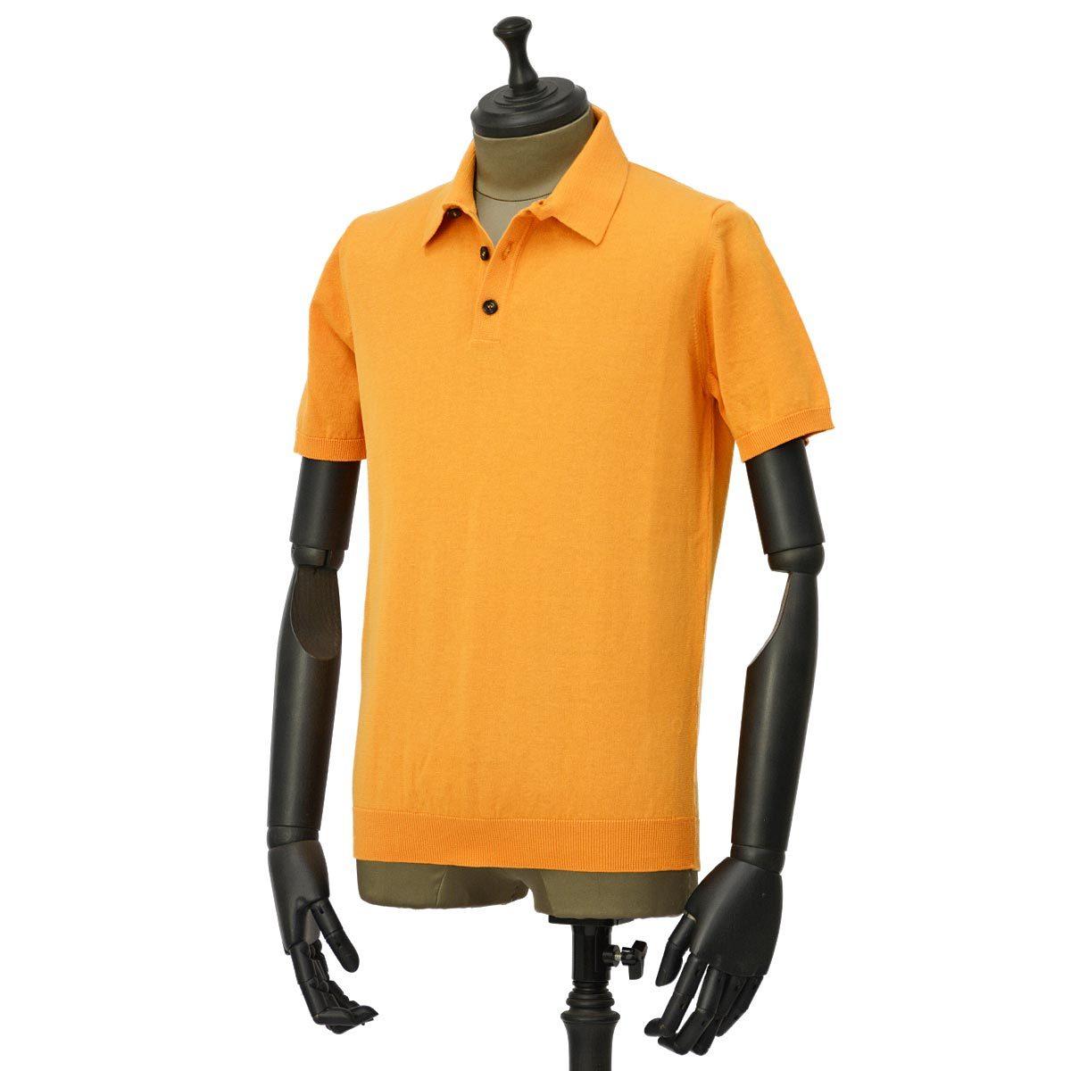 roberto collina【ロベルトコリーナ】ニットポロ RV10024 41 コットン オレンジ