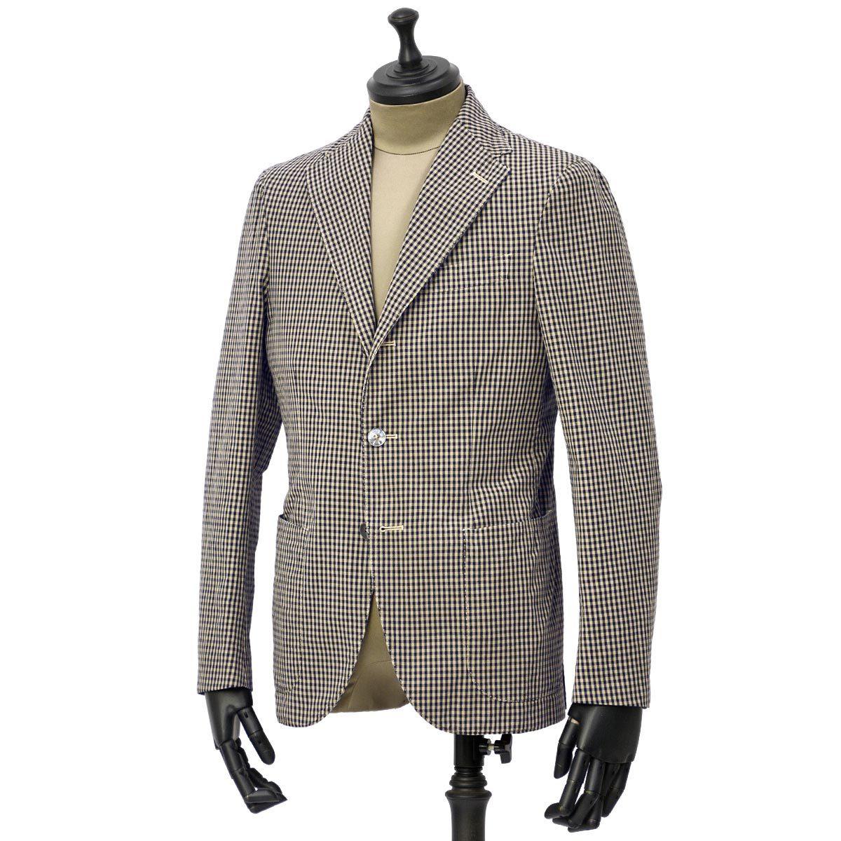 THE GIGI【ザ ジジ】シングルジャケット ART K601 200 コットン ギンガムチェック ブラウン ブラック