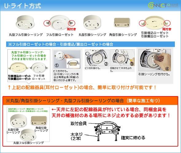 パナソニック LK04085WZの取付方法は U-ライト方式です。