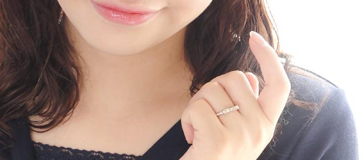 K18PG 【0.2ct】ダイヤモンド ハッピー リボン リング