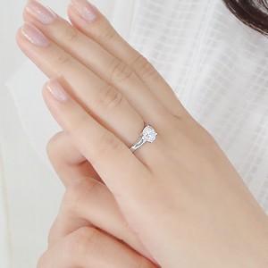 商品画像3 pt950 一粒 ダイヤモンド リング【H-SI2-Good】【1.00ct】