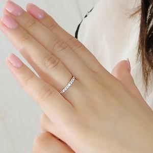 商品画像3 Pt900 ダイヤモンド グラデーション エタニティ リング