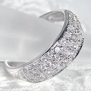 商品画像2 pt950 1.0ct ダイヤモンド パヴェリング