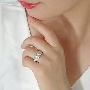 商品画像3 pt950 1.0ct ダイヤモンド パヴェリング