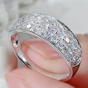 商品画像4 pt950 1.0ct ダイヤモンド パヴェリング