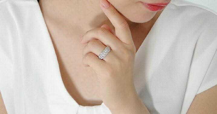 pt950 1.0ct ダイヤモンド パヴェリング