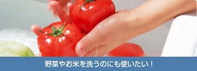 野菜やお米を洗うのにも使いたい!