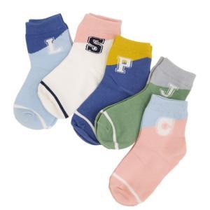 キッズソックス 5足セット ショートソックス ショート 靴下 子ども用靴下 キッズ 子ども ジュニア 赤ちゃん ベビー 綿 くしゅくしゅ 秋冬 男の子 女の子|clivia|10
