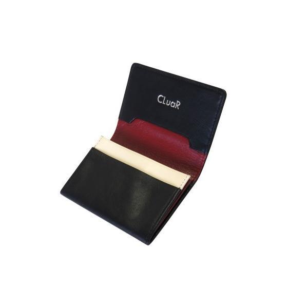 名刺入れ 名刺ケース ビジネス カードケース サブポケット 大容量 50枚収納 本革 革 レザー メンズ レディース CLuaR シールアル|cluar|13