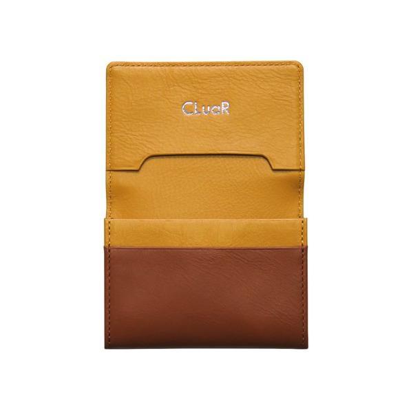 名刺入れ 名刺ケース ビジネス カードケース サブポケット 大容量 50枚収納 本革 革 レザー メンズ レディース CLuaR シールアル cluar 08