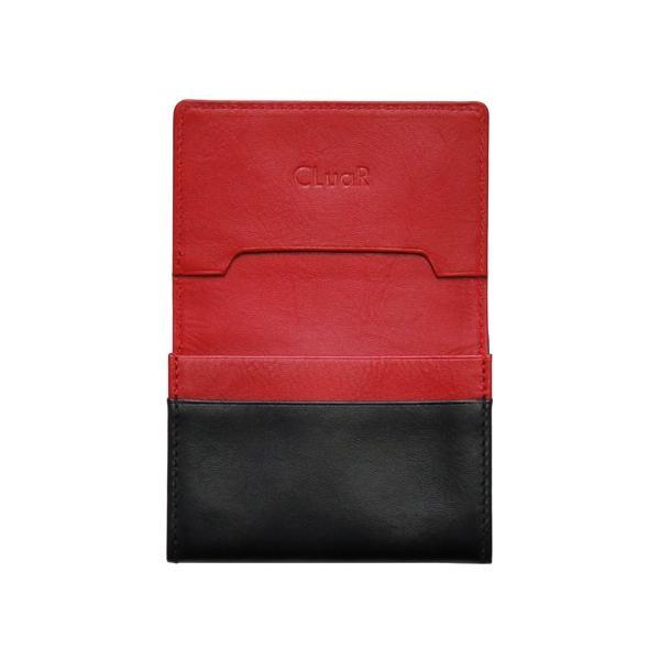 名刺入れ 名刺ケース ビジネス カードケース サブポケット 大容量 50枚収納 本革 革 レザー メンズ レディース CLuaR シールアル cluar 15