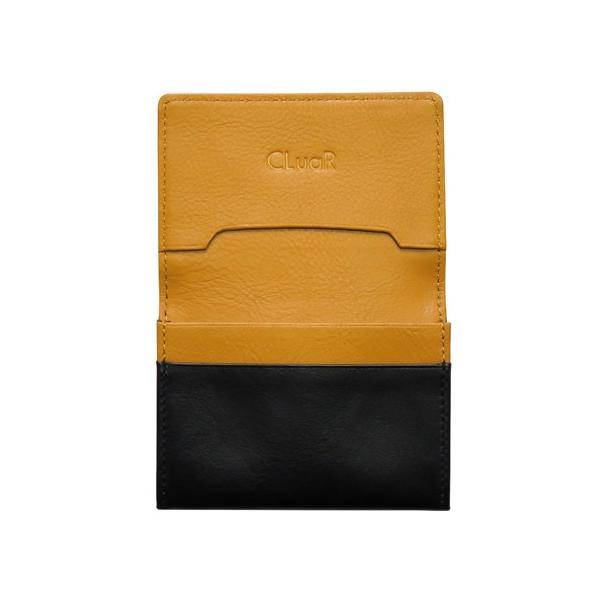 名刺入れ 名刺ケース ビジネス カードケース サブポケット 大容量 50枚収納 本革 革 レザー メンズ レディース CLuaR シールアル cluar 16
